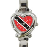 Flag_Trinidad & Tobago Heart Italian Charm Watch