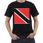Flag_Trinidad & Tobago Black T-Shirt (Two Sides)