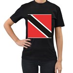 Flag_Trinidad & Tobago Women s Black T-Shirt (Two Sides)
