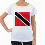 Flag_Trinidad & Tobago Maternity White T-Shirt