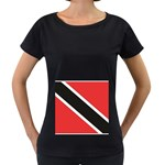 Flag_Trinidad & Tobago Maternity Black T-Shirt