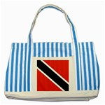 Flag_Trinidad & Tobago Striped Blue Tote Bag