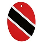 Flag_Trinidad & Tobago Oval Ornament (Two Sides)
