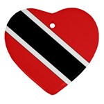 Flag_Trinidad & Tobago Heart Ornament (Two Sides)