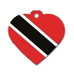 Flag_Trinidad & Tobago Dog Tag Heart (Two Sides)