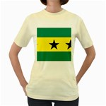 Flag_Sao Tome & Principe Women s Yellow T-Shirt