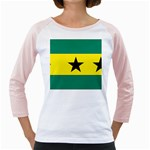Flag_Sao Tome & Principe Girly Raglan