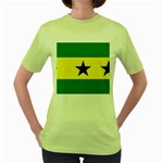 Flag_Sao Tome & Principe Women s Green T-Shirt