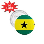 Flag_Sao Tome & Principe 1.75  Button (10 pack)