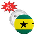 Flag_Sao Tome & Principe 1.75  Button (100 pack)