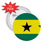 Flag_Sao Tome & Principe 2.25  Button (10 pack)