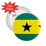 Flag_Sao Tome & Principe 2.25  Button (100 pack)