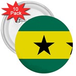 Flag_Sao Tome & Principe 3  Button (10 pack)