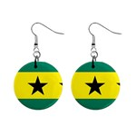 Flag_Sao Tome & Principe 1  Button Earrings