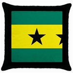 Flag_Sao Tome & Principe Throw Pillow Case (Black)