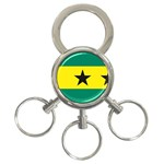 Flag_Sao Tome & Principe 3-Ring Key Chain