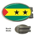 Flag_Sao Tome & Principe Money Clip (Oval)