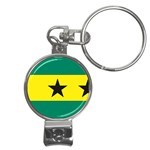 Flag_Sao Tome & Principe Nail Clippers Key Chain