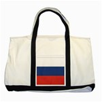 Flag_Russia Two Tone Tote Bag