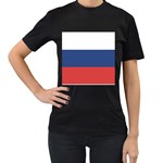 Flag_Russia Women s Black T-Shirt