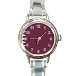 Flag_Qatar Round Italian Charm Watch