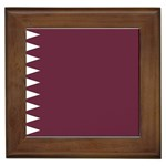Flag_Qatar Framed Tile