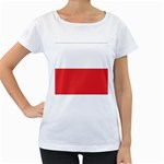 Flag_Poland Maternity White T-Shirt