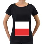 Flag_Poland Maternity Black T-Shirt