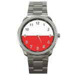 Flag_Poland Sport Metal Watch
