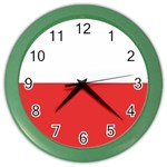 Flag_Poland Color Wall Clock