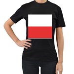 Flag_Poland Women s Black T-Shirt