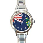 Flag_Pitcairn Islands Round Italian Charm Watch