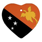 Flag_Papua New Guinea Ornament (Heart)