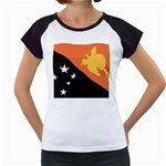 Flag_Papua New Guinea Women s Cap Sleeve T