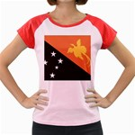 Flag_Papua New Guinea Women s Cap Sleeve T-Shirt