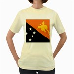 Flag_Papua New Guinea Women s Yellow T-Shirt