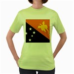 Flag_Papua New Guinea Women s Green T-Shirt