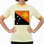 Flag_Papua New Guinea Women s Fitted Ringer T-Shirt