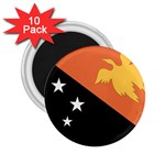 Flag_Papua New Guinea 2.25  Magnet (10 pack)
