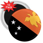Flag_Papua New Guinea 3  Magnet (10 pack)
