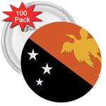 Flag_Papua New Guinea 3  Button (100 pack)