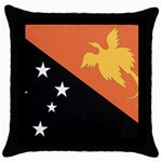 Flag_Papua New Guinea Throw Pillow Case (Black)