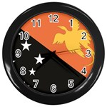 Flag_Papua New Guinea Wall Clock (Black)