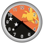 Flag_Papua New Guinea Wall Clock (Silver)