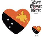 Flag_Papua New Guinea Multi-purpose Cards (Heart)