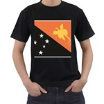 Flag_Papua New Guinea Black T-Shirt
