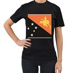 Flag_Papua New Guinea Women s Black T-Shirt