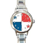 Flag_Panama Round Italian Charm Watch