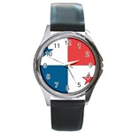 Flag_Panama Round Metal Watch