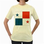 Flag_Panama Women s Yellow T-Shirt